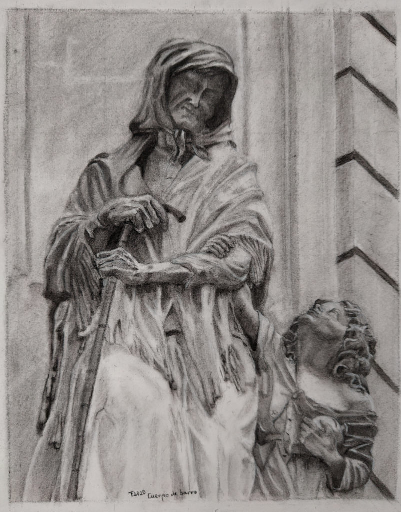 Anciana con niño