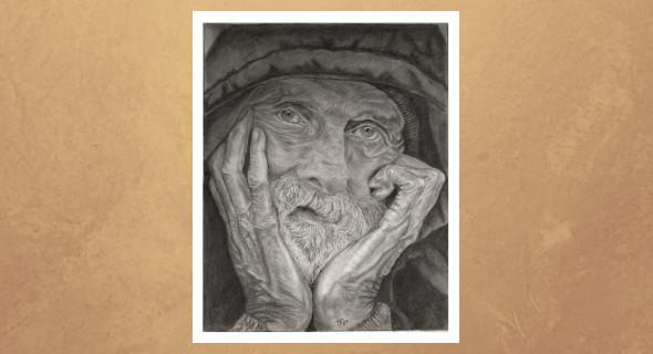 Retrato de anciano inicio