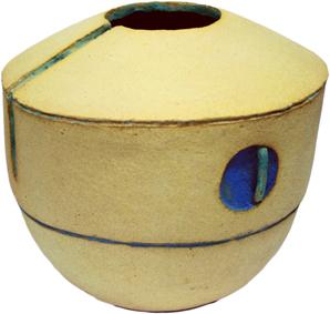 jarron circulo azul